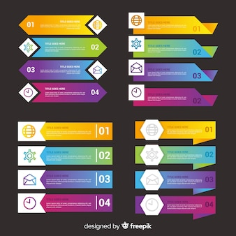 Infografika biznes gradientu