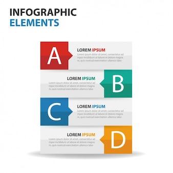 Infografika biznes z czterech faz