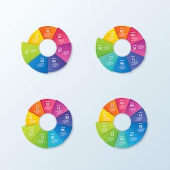 Infografika biznesu i wizualizacja danych