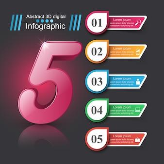 Infografika biznesu. ikona liczby.