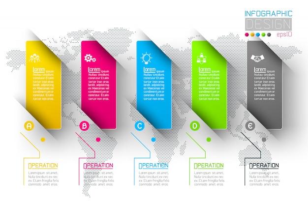 Infografika biznesu z 5 kroków.