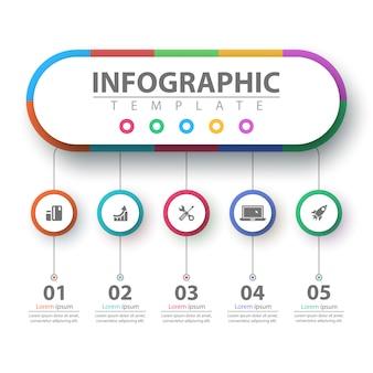 Infografika biznesu.