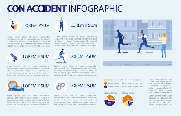 Infografika con accident.