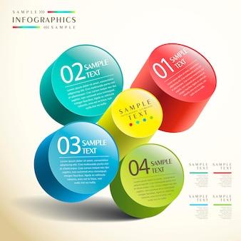 Infografika cylindra 3d