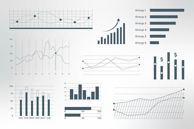 Infografika danych biznesowych na pulpicie