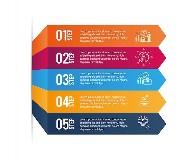 Infografika danych z graficznymi informacjami biznesowymi