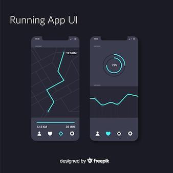 Infografika dla aplikacji mobilnej z systemem