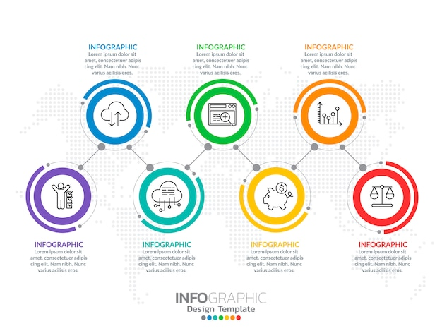 Infografika dla koncepcji biznesowej z ikonami i opcjami