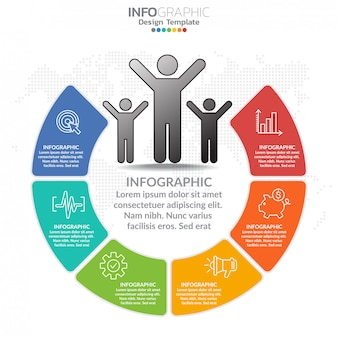 Infografika dla koncepcji biznesowej z ikonami i opcje lub kroki.