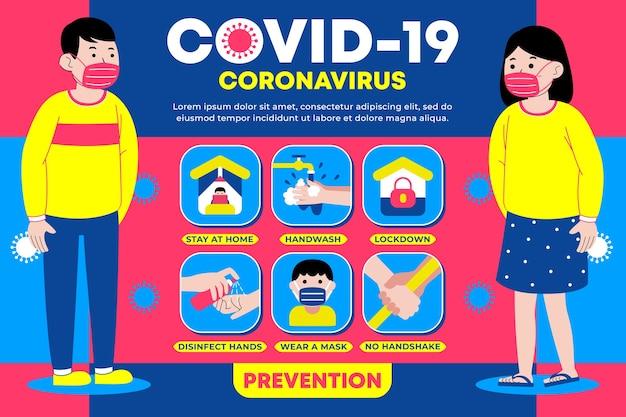 Infografika dotycząca zapobiegania koronawirusowi