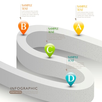 Infografika drogowa 3d