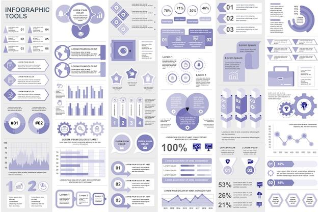 Infografika elementy wizualizacja danych wektor projekt informacji grafika