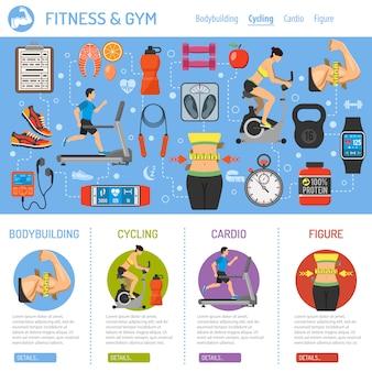 Infografika fitness i siłownia