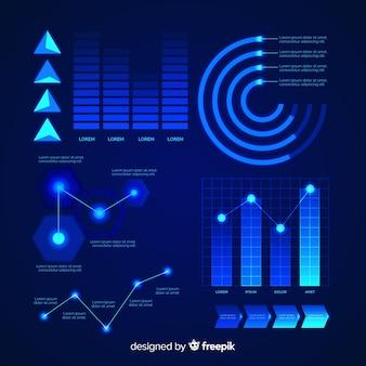 Infografika futurystyczny element kolekcja