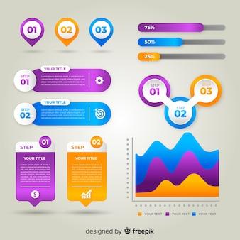 Infografika gradientu biznesowych