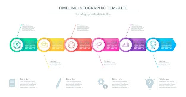 Infografika gradientu osi czasu do prezentacji