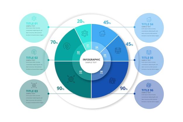 Infografika kolorowy pierścień