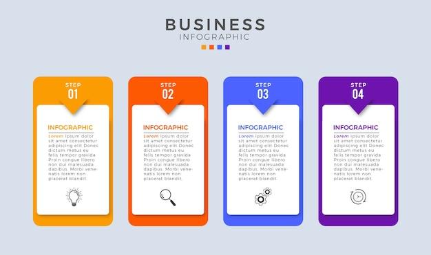 Infografika kroki 4 projektowanie szablonów biznesowych