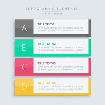 Infografika kroki banery
