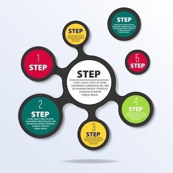 Infografika krokiem szablonu