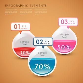 Infografika kropli 3d