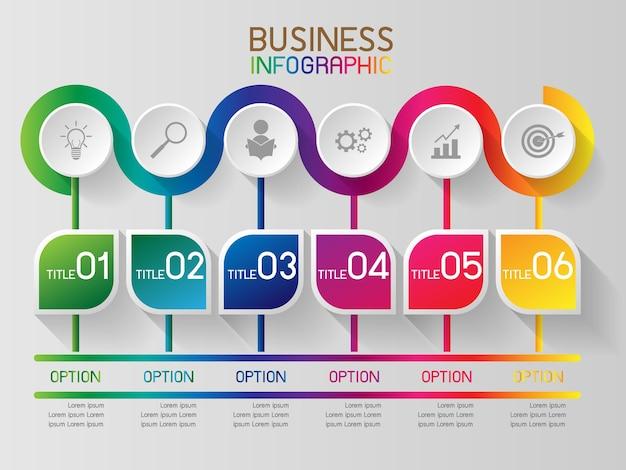 Infografika lub element graficzny informacji dla biznesu