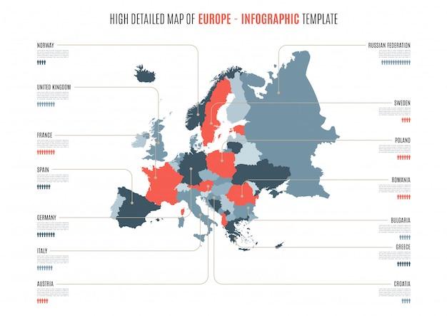 Infografika mapa europy