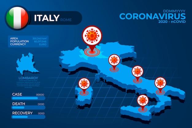 Infografika mapa kraju koronawirusa