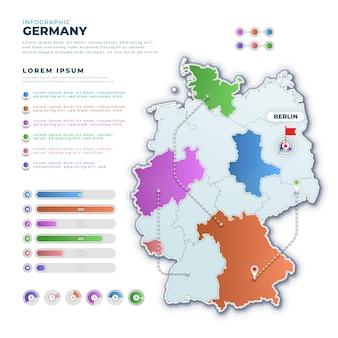 Infografika mapa niemiec gradientu