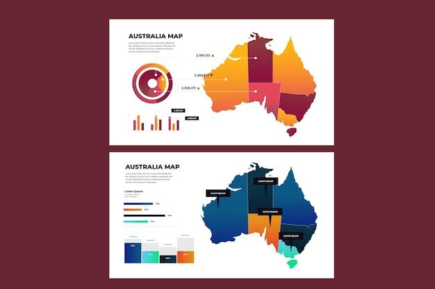 Infografika mapy australii gradientu