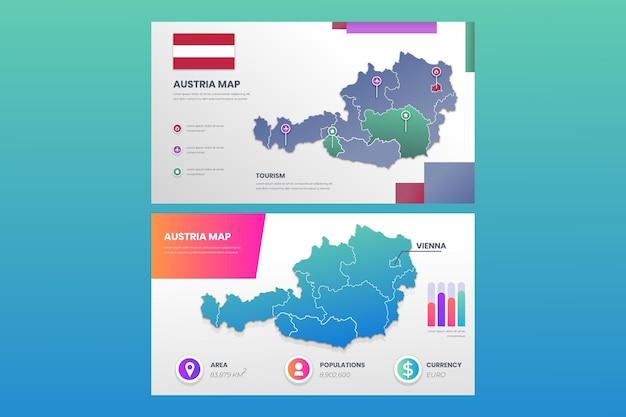 Infografika mapy gradientu austrii
