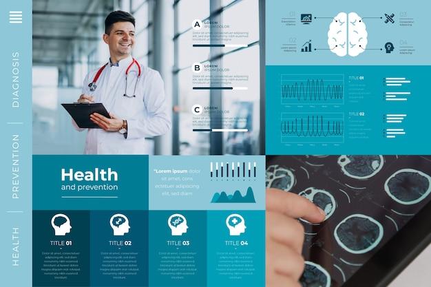 Infografika medyczna z wizerunkiem