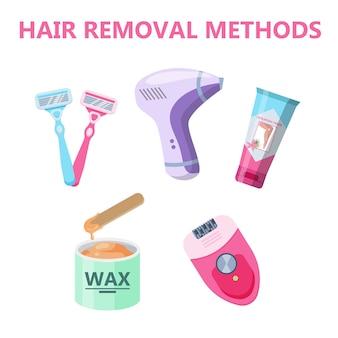 Infografika metod usuwania włosów dla kobiet