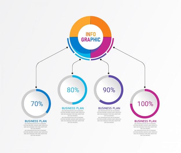Infografika może służyć do przetwarzania, prezentacji, układu, banera, wykresu, warstwy