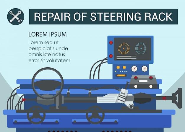 Infografika naprawy stojak kierowniczy
