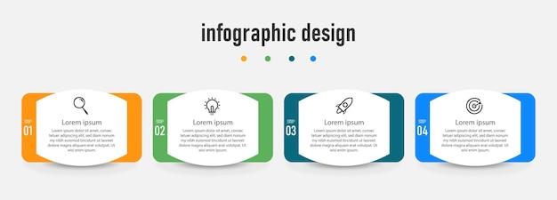 Infografika projekt szablonu profesjonalnych kroków