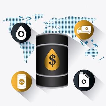 Infografika przemysłowa ropy naftowej i oleju