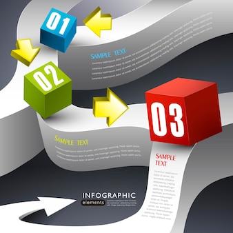Infografika pudełka 3d