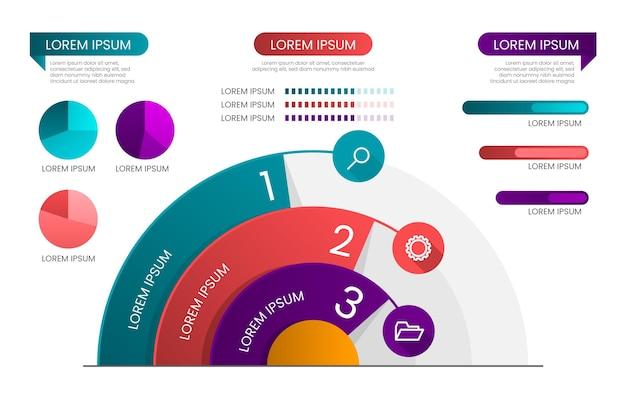 Infografika radialny gradientu