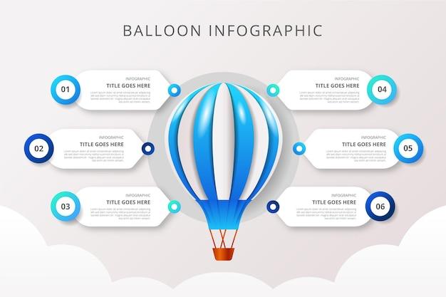 Infografika realistyczny balon