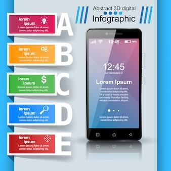 Infografika smartphone