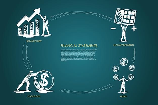 Infografika statystyk finansowych