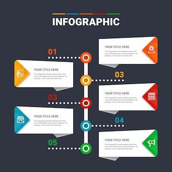 Infografika szablon 5 opcji