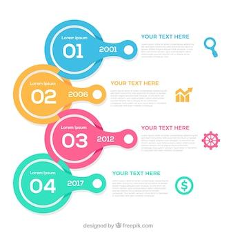Infografika szablon osi czasu