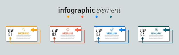Infografika szablon prezentacji z czterema opcjami