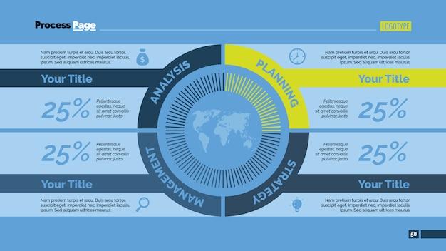 Infografika szablon projektu