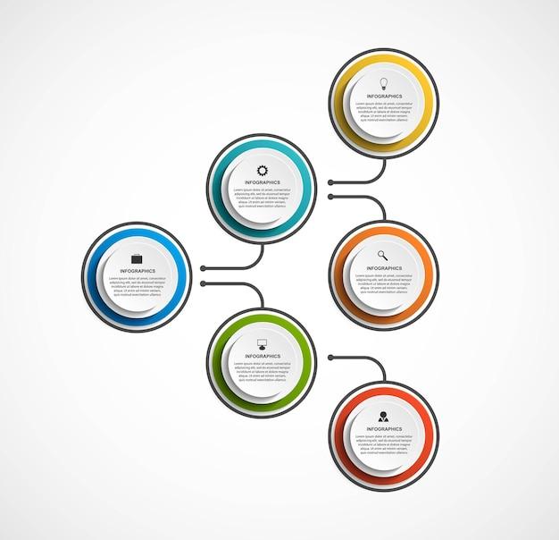Infografika szablon schematu organizacyjnego