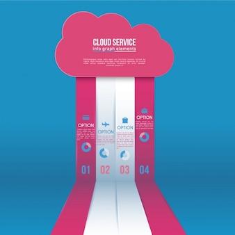 Infografika szablon w kształcie chmury