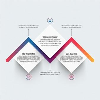 Infografika szablonu z kolorowym osi czasu