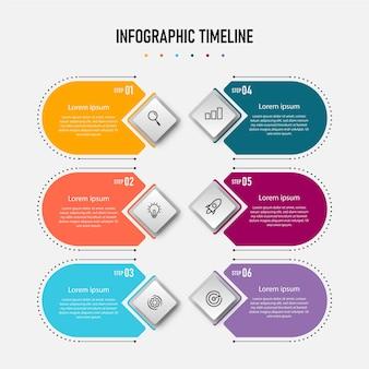 Infografika szablony biznesowe oś czasu prezentacja proces raport informacje